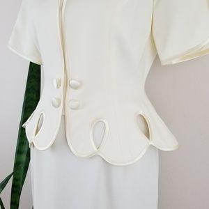 Vintage Skirts - VTG 80s Saks Fifth Avenue Warren Petites Skirt Set